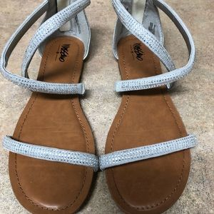 Mossimo silver gladiator sandals